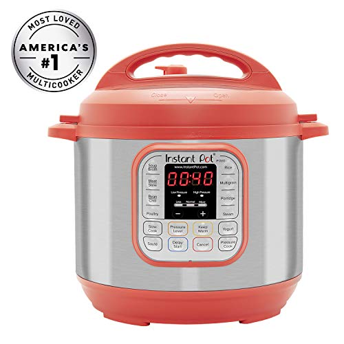 Instant Pot Duo RED 60, 120V-60Hz, 7-in-1 Multi-Use Programmable Pressure, Slow, Rice Cooker, St ...