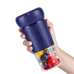 Portable Blender, Hosome Cordless Personal Blender Shakes and Smoothies, Single Serve Mini Mixer ...