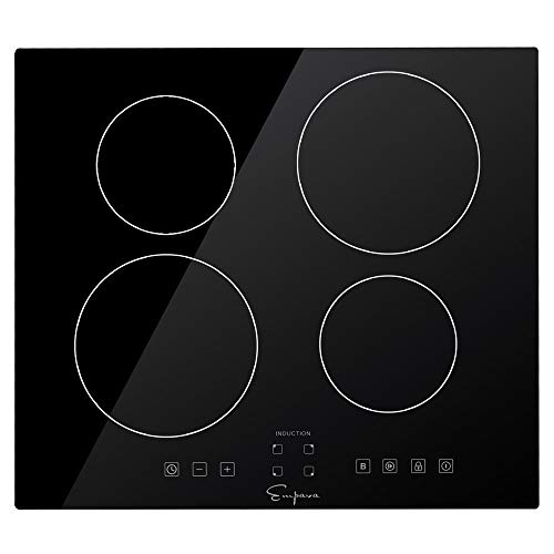 Empava IDCX24 24″ Electric Stove Induction Cooktop with 4 Power Boost Burners Smooth Surfa ...