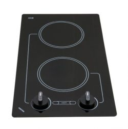 Kenyon B41692 6-1/2-Inch Caribbean 2-Burner Cooktop with Analog Control UL, 208-volt, Black