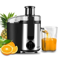 Juicer, Picberm Centrifugal Juicer Machines Easy to Clean, Wide Mouth Juice Extractor with Peele ...