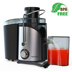 "Homgeek Juicer Machines, Juicer Extractor with 3"" Wide Mouth, Dual Speed Mode Compact Juic ..."