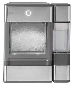 GE PROFILE OPAL01GEPKT Opal Nugget Ice Maker-Countertop, Stainless Steel Wrap with Gray Accents  ...