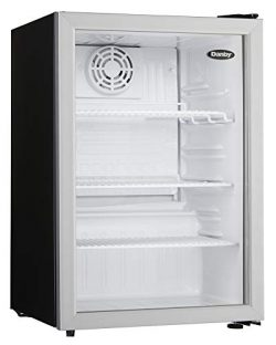 Danby DAG026A1BDB Commercial All Glass Door Compact Refrigerator, silver