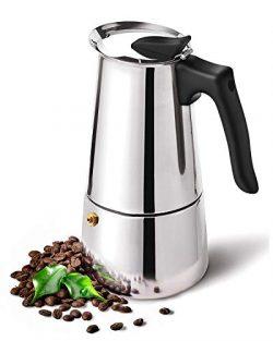 DclobDop Stovetop Espresso Maker with Classic and Rich Brews Moka Pot 9 Cup,15.2 oz,Cuban Coffee ...