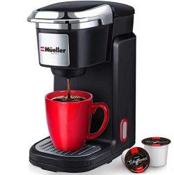 Mueller Barista Pro Single Serve Brewer 10oz Coffee Maker Machine with One Button Operation, Aut ...
