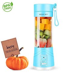 Portable Juicer Blender, Household Fruit Mixer – Six Blades in 3D, 380ml Fruit Mixing Mach ...