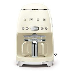 Smeg Retro Style Coffee Maker Machine, 17.3 x 12.8 x 11.3, Cream