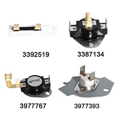 Amityke 3392519 Dryer Thermal Fuse 3387134 High-Limit Thermostat 3977393 Thermal Cut-off Switch  ...