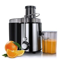 Sagnart Centrifugal Juicer Machines, Juice Extractor for Whole Fruit and Vegetables, BPA-Free, 2 ...