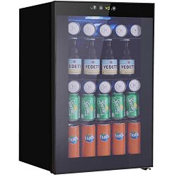 Tavata Beverage Refrigerator and Cooler – 2.9 Cu.Ft Drink Fridge with Glass Door for Soda, ...