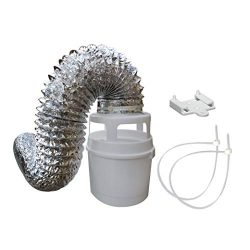 Raven Indoor Dryer Vent Kit with Bucket and 4 feet Flexible Aluminum Foil Duct TDIDVKZW 211L