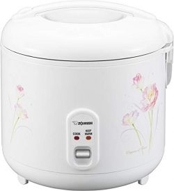 Zojirushi NS-RPC18FJ Rice Cooker and Warmer, 1.8-Liter, Tulip