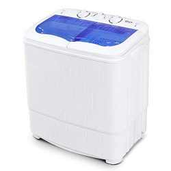 Della Electric Small Mini Portable Compact Top Load Washer Washing Machine Spin and Dry(33L Wash ...
