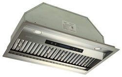 EKON Built-in Or Insert Kitchen Range Hood 900 CFM Touch Control Panel With LCD Display and Remo ...