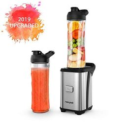 Personal Mini Blender Smoothie Maker Single Service for Shakes and Smoothie, homgeek Portable Sm ...