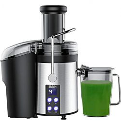 IKICH Centrifugal Juicer [2019 Upgrade] 4 Speed Juice Extractor Creates More Juice and High Nutr ...