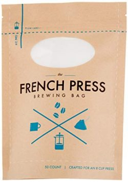 The Original French Press Brewing Bags – 50 Easy To Use Fine Mesh Disposable Coffee Filter ...