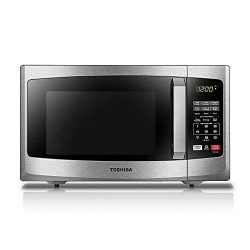 Toshiba EM925A5A-SS Microwave Oven with Sound On/Off ECO Mode and LED Lighting 0.9 cu. ft. Stain ...
