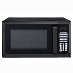 Hamilton Beach 0.9 Cu. ft. Stainless Steel Microwave Oven (Black, Stainless Steel)