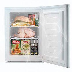 Bossin Energy Star 2.1 Cu.Ft Compact Mini Freezer Standing Upright Freezer Food Storage Machine  ...