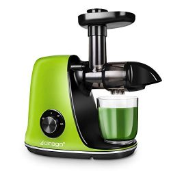 CIRAGO Juicer Machines, Slow Masticating Juicer Extractor Two Speed Adjustment, Easy to Clean, Q ...
