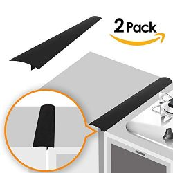 Linda's Silicone Kitchen Stove Counter Gap Cover Long & Wide Gap Filler (2 Pack) Seals ...