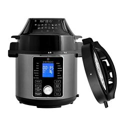 ChefWave 2-in-1 Air Fryer and Pressure Cooker – 6 Qt Multi Cooker Swap Pot with 29 Presets ...
