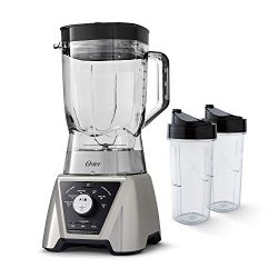 Oster BLSTTSCB2000 Texture Select Settings Pro Blender with 2 Blend-N-Go Cups and Tritan Jar, Br ...