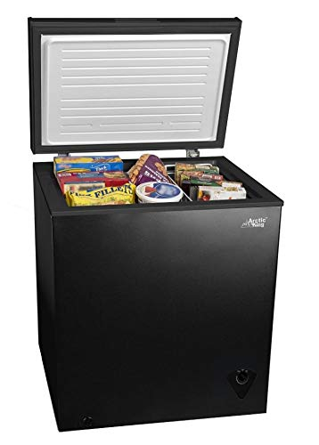 5cf Chest Freezer Deep 5 Cu Ft Compact Dorm Upright Apartment Home Food Storage Compact Space Sa ...