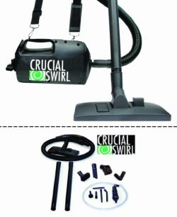 Think Crucial Crucial Swirl 4.5-lb Handheld Vacuum Cleaner, Includes Deluxe Cleaning Attachments ...