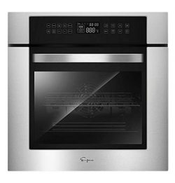 Empava 24XWOC02 24 Inch Electric Convection Single Wall Oven 10 Cooking Functions Deluxe 360° RO ...