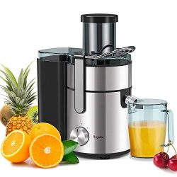Juicer, Bagotte Upgrade 1000W Juicer Machines, Easy Clean Juice Extractor 3.3″ Wide Mouth  ...