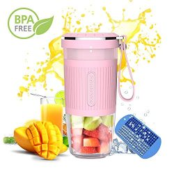 Portable Blender,Cordless Mini Personal Blender Small Smoothie Blender USB Fruit Juicer Mixer &# ...