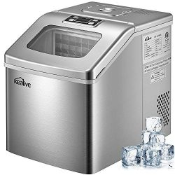 Ice Maker Machine 48 lbs ice in 24 hours Portable Ice Maker for Countertop Clear Square Ice Cube ...