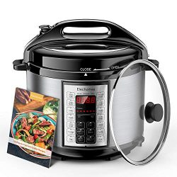 Elechomes Electric Pressure Cooker 6 Qt with Stainless Steel Inner Pot 9-in-1 Crock Pot Multi-us ...