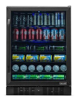 NewAir Beverage Refrigerator Built in Cooler with 177 Can Capacity Soda Beer Fridge, NBC177BS00, ...