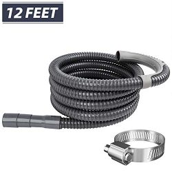 Hosom Heavy Duty Washing Machine Drain Hose 12 Feet, Washer Discharge Extension Hose