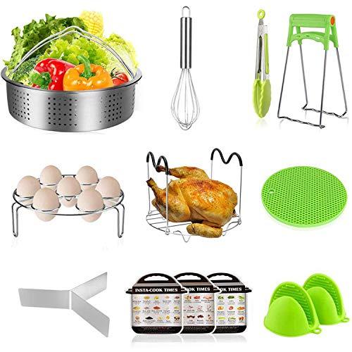 Instant Pot Accessories Steamer Basket with Egg Steamer Rack, Divider, Fits Instant Pot 5,6,8 qt ...