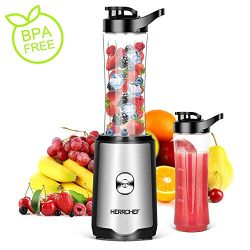 Smoothie Blender, Herrchef Personal Blender for Shakes and Smoothies, 350W Single Serve Blender  ...