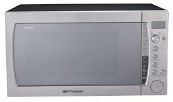 Emerson ER105006 2.2 Cu Ft 1200 W Counter top Microwave Oven with Inverter Technology & Sens ...