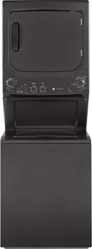 GE GUD27ESPMDG Spacemaker Series 27 Inch Electric Laundry Center with 3.8 cu. ft. Washer Capacit ...