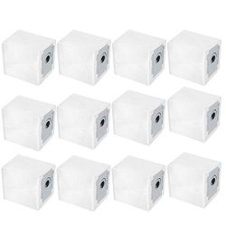 Amyehouse 12 Packs Dust Bags Clean Base Automatic Dirt Disposal Bags Replacement Parts for iRobo ...