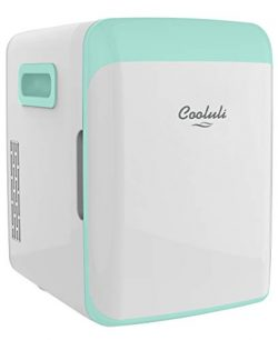 Cooluli Classic Turquoise 10 Liter Compact Portable Cooler Warmer Mini Fridge for Bedroom, Offic ...