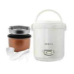 1.0L Mini Rice Cooker, Electric Travel Rice Cooker Small, Removable Non-stick Pot, Keep Warm Fun ...