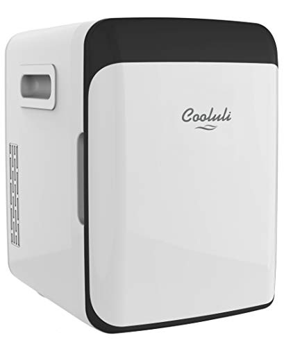 Cooluli Classic White 10 Liter Compact Portable Cooler Warmer Mini Fridge for Bedroom, Office, D ...