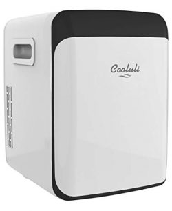 Cooluli Classic White 15 Liter Compact Portable Cooler Warmer Mini Fridge for Bedroom, Office, D ...