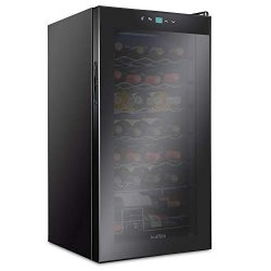 Ivation 28 Bottle Compressor Wine Cooler Refrigerator | Large Freestanding Wine Cellar For Red,  ...