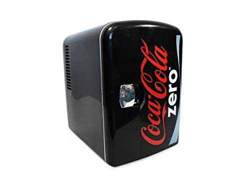 Coca-Cola CZ04 Diet Coke Personal Cooler,12 volt & 110V DC for your home, 6 Can, Silver