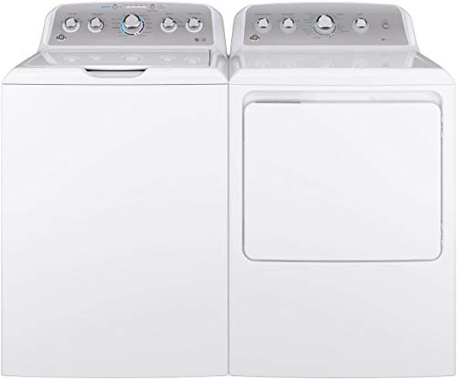 """GE Top Load Speed Wash GTW500ASNWS 27″"""" Washer with Front Load GTD45EASJWS 27″ ..."""